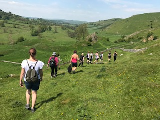 walking through Hartington Hills